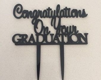Congratulations On Your Graduation Cake Topper