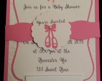 Ballerina Little Girl Invitations