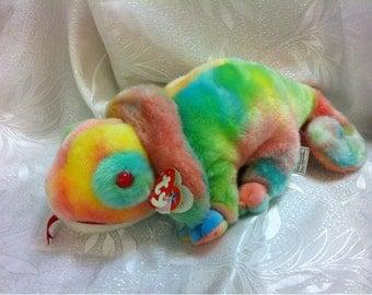 TY Beanie Buddies Collection Chameleon Stuffed Animal Plush Toy Beanie Original Buddy