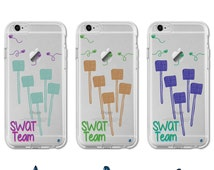 0055 Fly Swatter SWAT Team Pun Quote TPU Case for iPhone 5/5s, iPhone SE, iPhone 6/6s and 6/6s Plus, Galaxy S5, Galaxy S6 and S6 Edge