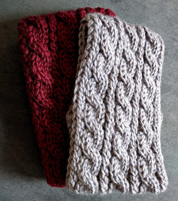 Chunky Knit Ear Warmer Pattern : Chunky Cable Knit Ear Warmer Pattern Knitting Patterns for
