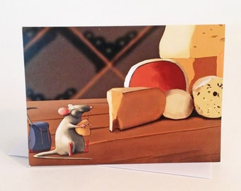 Mouse adventurer - mouse greeting card