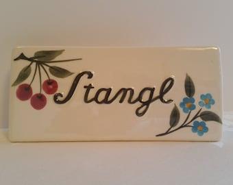 Original Stangl 1960-70s Dealer Sign