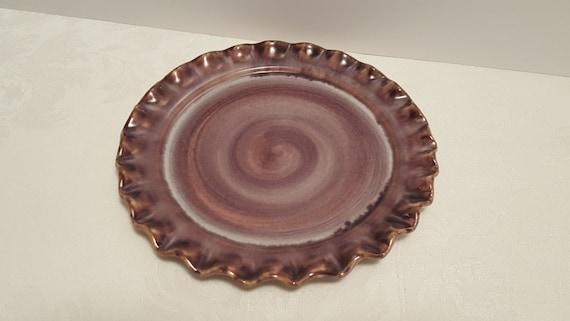 Stangl Terra Rose Mauve Pie Crust 8'' Plate #3506