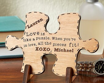 Perfect Match Personalized Wood Puzzle Piece