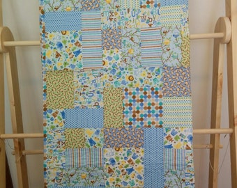 Blue Baby Boy Quilt - Snips and Snails