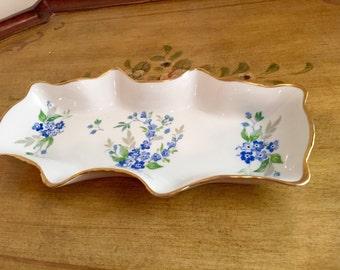 Vintage Limoges France Candy Dish, Limoges Floral Dish, Vintage Porcelain