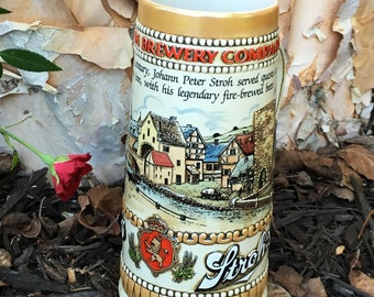 Collectible Strohs Beer Stein from the 80's