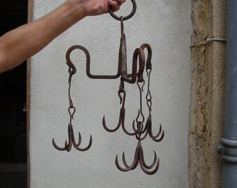 Giant old well hook. Vintage Well Hook. French Well Hook.