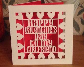 Papercut - Happy Valentine's Day to my Girlfriend Card