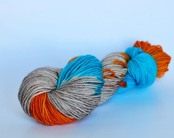 Fall Yarn, Hand Dyed, Bluefaced Leicester, DK, Superwash