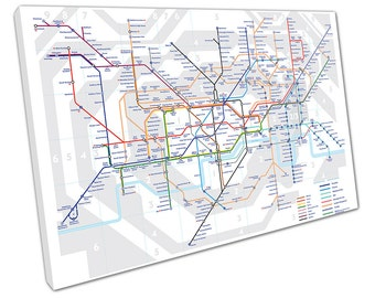 London tube MAPS Canvas wall art C2018