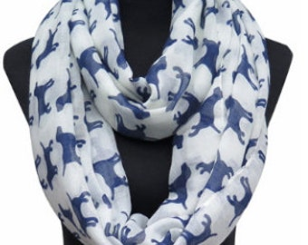 Scarf with Lab Print