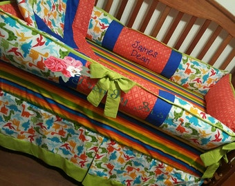 Dinosaur crib bedding