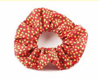 Scrunchie, scrunchies, tie hair, vintage style - red yellow strawberry