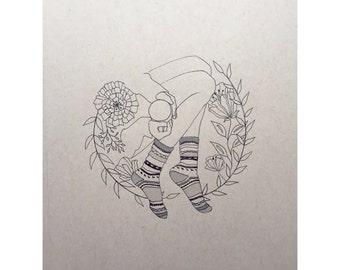 Sock Portrait, Illustration