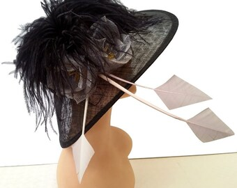 Desire Black Designer Hat - UH228