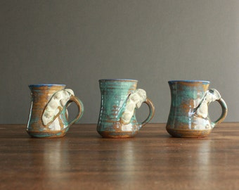 Abstract Seashell Mugs by N. Breithaupt