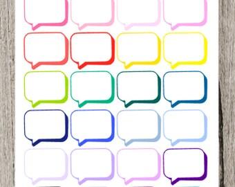Colorful Speech Bubbles  for the Erin Condren Life Planner