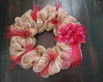 Burlap Love Valentine's Day Wreath