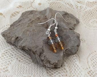 Pale orange earrings