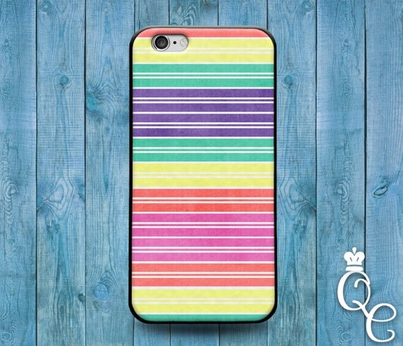 iPhone 4 4s 5 5s 5c SE 6 6s 7 plus + iPod Touch 4th 5th 6th Gen Cute Custom Rainbow Stripes Cool Phone Cover Gay Pride Girly Girl Boy Case