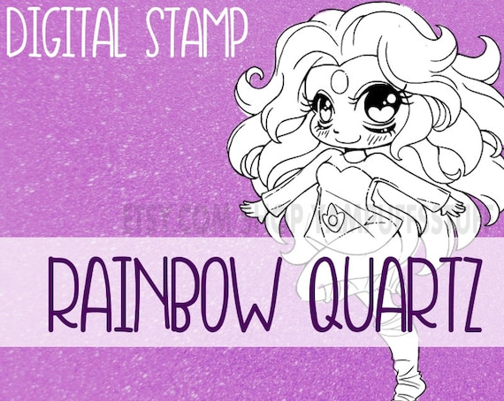 Steven Universe: Rainbow Quartz  - Clip Art - Digital Stamp