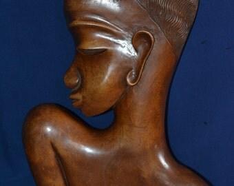 Wooden African bust