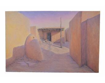 Large Arizona Landscape Painting Longshadow Afternoon #1 by Bob Howard