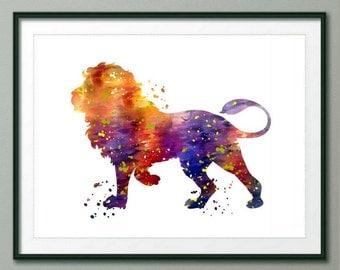 Leo Art Print, Leo Decor, Leo Watercolor Art, Leo, Leo Wall Decor