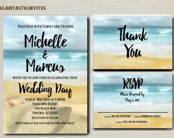 beach wedding invitation  etsy, Wedding invitations