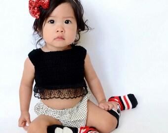 Crop top, crochet crop top, baby crop top,