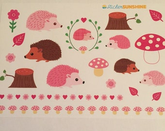 Pink Hedgehogs Decorative Sheet