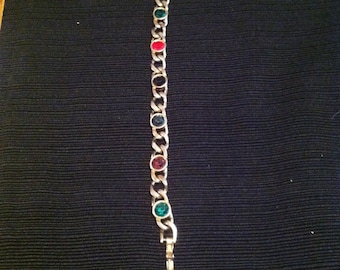 Vintage Multi- Colored Crystal Bracelet