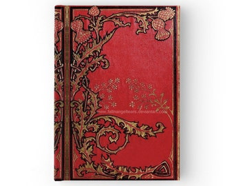 Hard Cover Journal Red Thistles