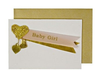 Baby Girl Charm Gift Enclosure, New Baby Girl Gifts