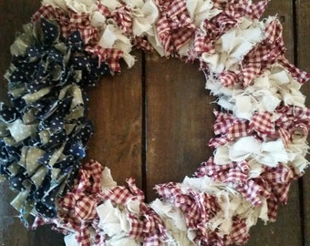 4th of July, 4th of July wreath, American flag wreath, American flag, Patriotic wreath, red white and blue, americana decor,americana