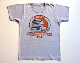 Vintage 80's Tee-Shirt Running Blue Ash Community Day