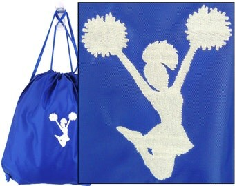Cheerleader Silhouette Cinch Bag Monogrammed Custom Embroidered Sports Drawstring Backpack