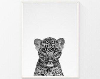 Baby prints, baby wall decor, baby leopard art, nursery animal wall art, nursery decor, kids wall art print, baby gift, wall art for nursery