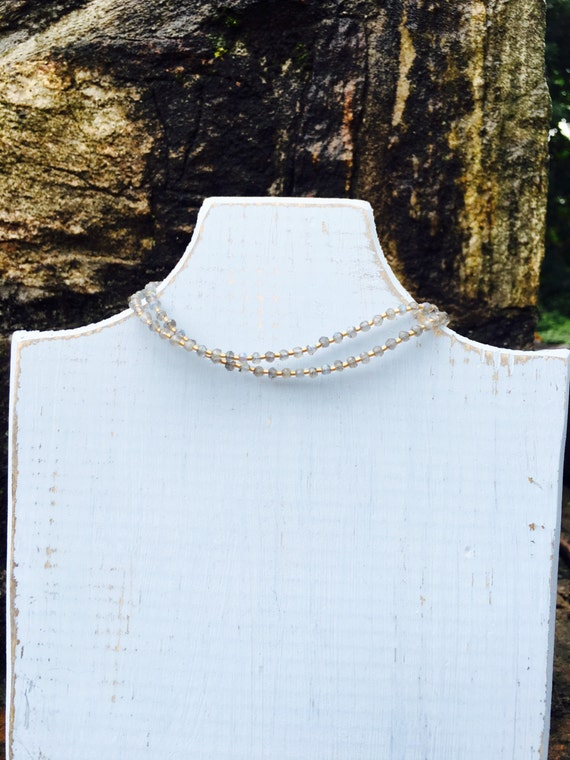 """Labradorite  & Gold Seed Bead """"Everyday Necklace"""""""