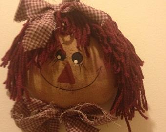 Handmade Raggedy Ann Head