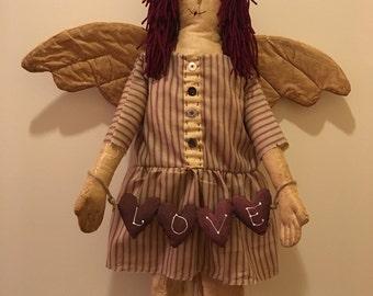 Primitive Raggedy Doll Angel