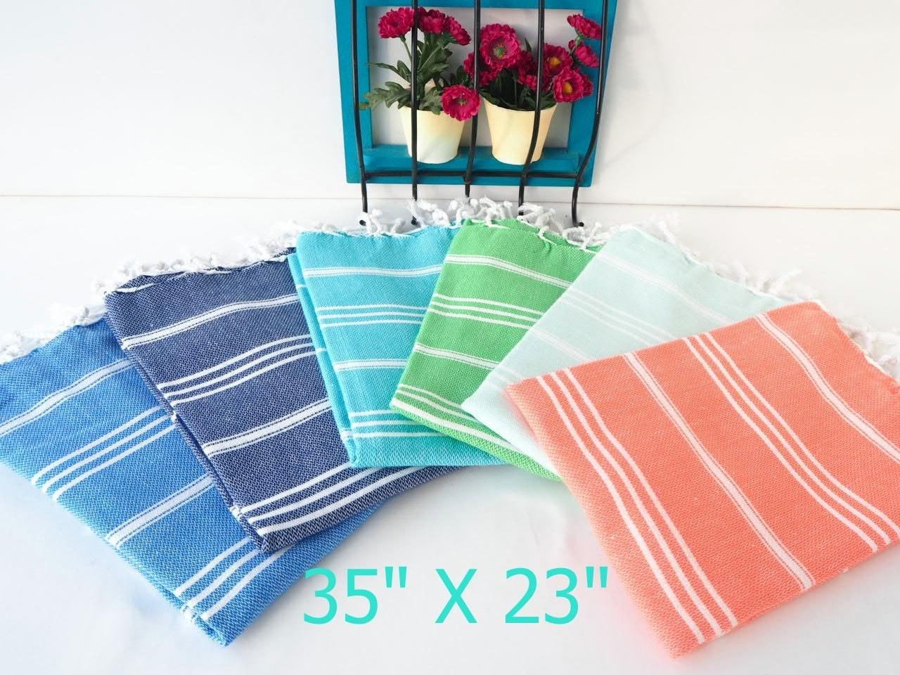 Set Of 6 Turkish Hand Towel Setset Of 6 Turkish Face Towel 6