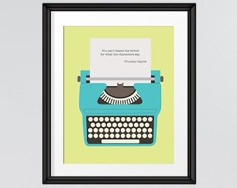 Truman Capote Quote, Gift for Writers, Typewriter Art, Inspirational Quote, INSTANT DOWNLOAD