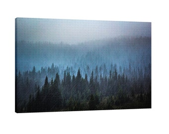 Tree layers in a storm Wall Art