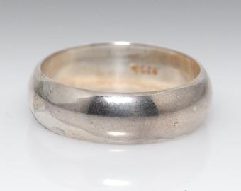 Vintage Sterling Silver Band - Size 10