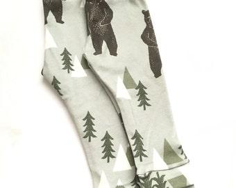 Brown bear leggings