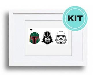 Star Wars - Darth Vader, Storm Trooper, Boba Fett - Cross Stitch Kit