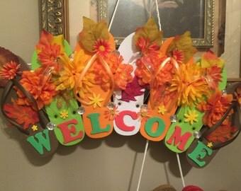 Flip flop wreath /each